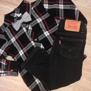Levi's Black Knit Jeans 18 Month Baby